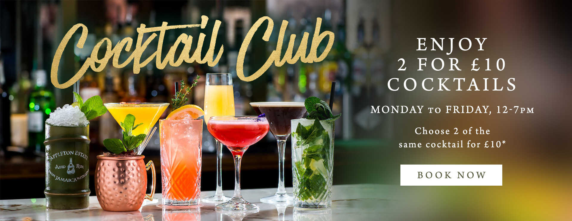 2 for £10 cocktails at The Spade Oak
