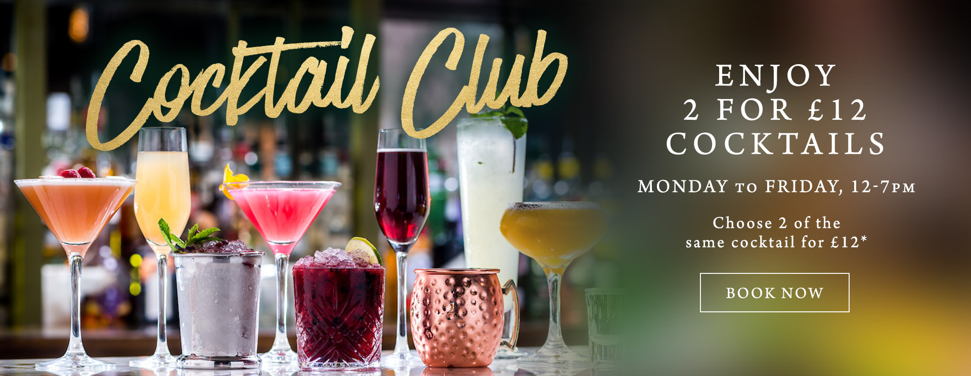 2 for £12 cocktails at The Spade Oak